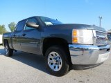 2013 Blue Granite Metallic Chevrolet Silverado 1500 LS Crew Cab #71688147