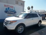 2013 White Platinum Tri-Coat Ford Explorer XLT #71687824