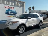 2013 White Platinum Tri-Coat Ford Explorer Limited #71687819