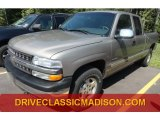 2002 Light Pewter Metallic Chevrolet Silverado 1500 LS Extended Cab 4x4 #71688317