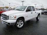 2008 Bright White Dodge Ram 1500 Big Horn Edition Quad Cab 4x4 #71688295