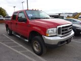 2004 Red Ford F250 Super Duty XLT Crew Cab 4x4 #71745531