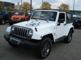 Bright White Jeep Wrangler in 2012