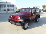 2012 Deep Cherry Red Crystal Pearl Jeep Wrangler Sport 4x4 #71745085