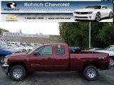 2013 Deep Ruby Metallic Chevrolet Silverado 1500 LS Extended Cab 4x4 #71745459