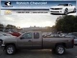 2013 Mocha Steel Metallic Chevrolet Silverado 1500 LT Extended Cab 4x4 #71745456