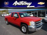 2013 Victory Red Chevrolet Silverado 1500 LT Extended Cab 4x4 #71745450
