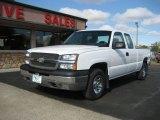 2003 Summit White Chevrolet Silverado 1500 LS Extended Cab 4x4 #71745430