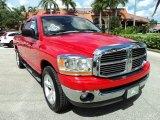 2006 Flame Red Dodge Ram 1500 SLT Quad Cab #71744600