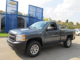 2012 Blue Granite Metallic Chevrolet Silverado 1500 Work Truck Regular Cab 4x4 #71744580