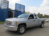 2013 Silver Ice Metallic Chevrolet Silverado 1500 LT Extended Cab 4x4 #71744579