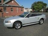 2002 Satin Silver Metallic Ford Mustang V6 Convertible #71745391