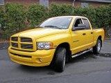 2005 Solar Yellow Dodge Ram 1500 SLT Quad Cab 4x4 #7150999