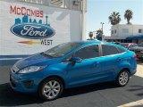2013 Blue Candy Ford Fiesta SE Sedan #71744510