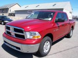 2009 Inferno Red Crystal Pearl Dodge Ram 1500 Laramie Crew Cab 4x4 #7150689