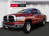 2006 Inferno Red Crystal Pearl Dodge Ram 1500 SLT Quad Cab 4x4 #71745303