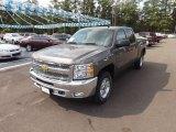 2013 Mocha Steel Metallic Chevrolet Silverado 1500 LT Crew Cab 4x4 #71745262