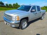 2013 Silver Ice Metallic Chevrolet Silverado 1500 LT Crew Cab 4x4 #71745228