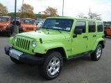 2013 Jeep Wrangler Unlimited Gecko Green Pearl