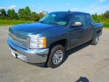 2012 Blue Granite Metallic Chevrolet Silverado 1500 LS Crew Cab #71745225