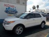 2013 White Platinum Tri-Coat Ford Explorer XLT #71819319