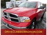 2012 Flame Red Dodge Ram 1500 SLT Quad Cab 4x4 #71819497