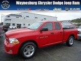 2012 Flame Red Dodge Ram 1500 Express Quad Cab 4x4 #71852900