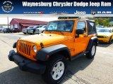2012 Dozer Yellow Jeep Wrangler Sport 4x4 #71852874