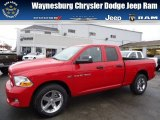 2012 Flame Red Dodge Ram 1500 Express Quad Cab 4x4 #71852891