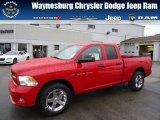 2012 Flame Red Dodge Ram 1500 Express Quad Cab 4x4 #71852911