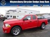 2012 Flame Red Dodge Ram 1500 Express Quad Cab 4x4 #71852887