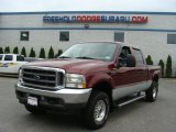 2004 Dark Toreador Red Metallic Ford F250 Super Duty XLT Crew Cab 4x4 #71861120