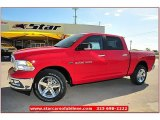 2012 Flame Red Dodge Ram 1500 Lone Star Crew Cab 4x4 #71860828