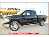 2012 Black Dodge Ram 1500 Lone Star Quad Cab 4x4 #71860825