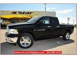 2012 Black Dodge Ram 1500 Lone Star Quad Cab 4x4 #71860823