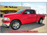 2012 Flame Red Dodge Ram 1500 Lone Star Quad Cab 4x4 #71860822