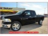 2012 Black Dodge Ram 1500 Lone Star Quad Cab 4x4 #71860818
