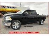 2012 Black Dodge Ram 1500 Lone Star Quad Cab #71860817