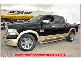 2012 Black Dodge Ram 1500 Laramie Longhorn Crew Cab 4x4 #71860815