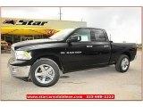 2012 Black Dodge Ram 1500 Lone Star Quad Cab #71860814