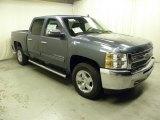 2013 Blue Granite Metallic Chevrolet Silverado 1500 LT Crew Cab 4x4 #71860902