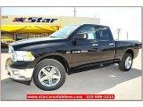 2012 Black Dodge Ram 1500 Lone Star Quad Cab 4x4 #71860813