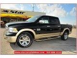 2012 Black Dodge Ram 1500 Laramie Longhorn Crew Cab 4x4 #71860807