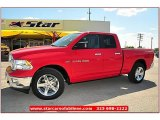 2012 Flame Red Dodge Ram 1500 Lone Star Quad Cab 4x4 #71860803
