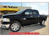 2012 Black Dodge Ram 1500 Laramie Longhorn Crew Cab 4x4 #71860802