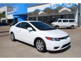2007 Taffeta White Honda Civic LX Coupe #7127354