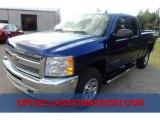 2013 Blue Topaz Metallic Chevrolet Silverado 1500 LS Extended Cab 4x4 #71860975
