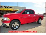 2012 Flame Red Dodge Ram 1500 Lone Star Quad Cab #71860855
