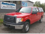 2010 Vermillion Red Ford F150 XL SuperCab 4x4 #71914765