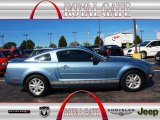 2007 Windveil Blue Metallic Ford Mustang V6 Premium Coupe #71914499